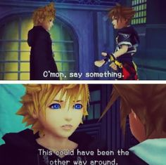 Gotta admit, felt a little sorry for Roxas. Was like his whole life was a lie.