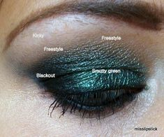 Using Urban Decay Smoked palette -- Loaded on Lid, Blackout in outer V, Freestyle on browbone with Kinky to highlight.