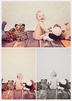 Little Girl 9 Month Photo Shoot - Deanne Mroz Photography