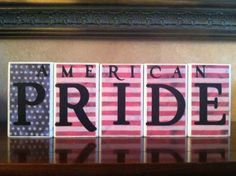Wood American Pride Blocks - July 4th / Independence day / 4th of July / Summer / American Home Decor / American Flag on Etsy, $19.00