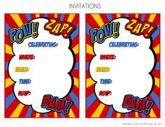 Free Printable Superhero Party Invitations Monza Berglauf Verband Com