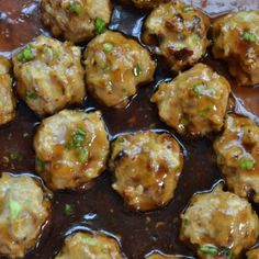 Teriyaki Chicken Meatballs are healthy, delicious and perfectly seasoned in a savory sauce. Made with simple all natural ingredients, they are easy to make and loved by the pickiest of eaters. We love Teriyaki Chicken Teriyaki Meatballs, Chicken Meatballs, Teriyaki Chicken, Parmesan Meatballs, Turkey Meatballs, Healthy Side Dishes, Healthy Snacks, Healthy Recipes, Skinny Recipes