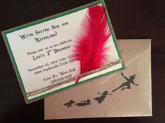 Neverland Inspired Invitations by HillmanHandmade on Etsy