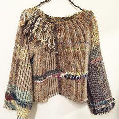 ウールのプルオーバー。 次はもう少しゆったりめに仕立てようと思います。 #さをり#さをり織り #SAORI #手織り #Weaving #fashion…