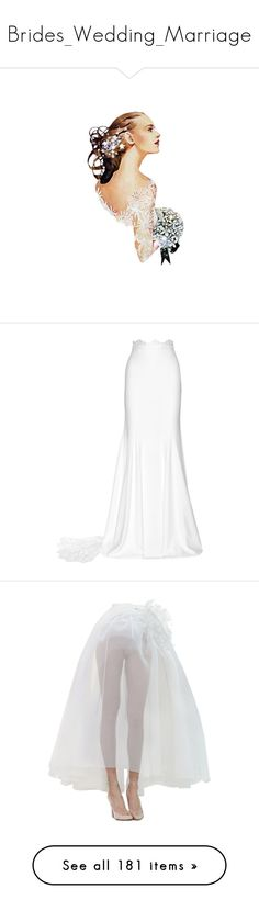 """""""Brides_Wedding_Marriage"""" by mimi1207 ❤ liked on Polyvore featuring skirts, bottoms, saias, maxi skirts, button maxi skirt, crepe maxi skirt, long skirts, rime arodaky, long white skirt and dolls"""