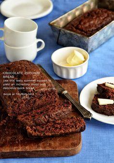 Moist and delicious Chocolate Zucchini Bread recipe at TidyMom.net