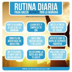 RUTINA DIARIA PARA HACER DEPORTE POR LA MAÑANA