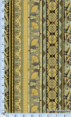 Valley of the Kings - Gilded Egyptian Vertical Stripe #2 - Egyptian, Elkabee's Fabric Paradise.com, LLC