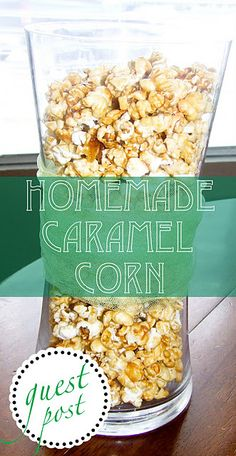 Homemade caramel corn... doesn't this look perfect as an apres-ski snack?