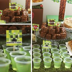 Minecraft Food, Minecraft Birthday Cake, Amazing Minecraft, Twin Birthday Parties, Happy 10th Birthday, Birthday Party Games, Minecraft Party Decorations, Festa Hot Wheels, Lion King Party