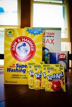 Homemade Dishwasher Detergent: 1 Cup of Washing Soda 1 Cup of Borax Cup of Salt 4 packets of Lemon aid Kool-Aid Homemade Cleaning Supplies, Cleaning Recipes, Cleaning Hacks, Homemade Products, Frugal Recipes, Cleaning Checklist, Soap Recipes, Homemade Dishwasher Detergent, Laundry Detergent