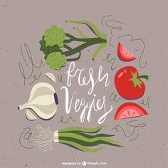 Veggies & Recipe set (Free) on Behance
