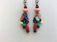 Boho Rustic Artisan Handmade 1950s tin earrings by Bohemystic on Etsy