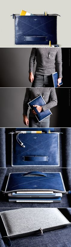 #hardgraft Grab Laptop Folio / Ocean