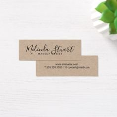 Professional modern script kraft paper business card kraft paper reheart Image collections