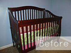 Feathers & Sunshine: Spray Painted crib