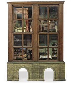 Andrew Waters from Christie's has kindly provided us with information and pictures regarding the doll's house supposedly decorated by Charl. Antique Dollhouse, Antique Dolls, Dollhouse Miniatures, Fairy Houses, Doll Houses, Four Rooms, Miniature Houses, Miniature Rooms, Doll Shop