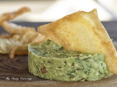 Chips & dips - homemade guacamole served w/ wonton chips