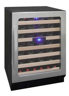 Store red and white wines at their optimum temperatures in the Vinotemp 50 Bottle Wine cooler.