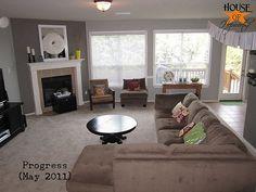 House of Hepworthspainting the family room  Martha Stewart Bedford gray