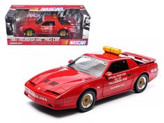 1987 Pontiac Firebird Trans Am GTA Talladega 500 Pace Car Nascar 1/18 Diecast Model Car by Greenlight - Brand new 1:18 scale diecast model of 1987 Pontiac Firebird Trans Am GTA Talladega 500 Pace Car Nascar die cast model car by Greenlight. Brand new box. Rubber tires. Has steerable wheels. Made of diecast metal. Detailed exterior. Has opening hood, doors and trunk. Dimensions approximately L-10.5, W-4, H-3.5 inches.-Weight: 4. Height: 8. Width: 15. Box Weight: 4. Box Width: 15. Box Height…