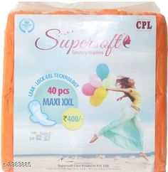 Feminine Hygiene Extra Care/ Super Soft Sanitary Napkins (Pack of 1)  *Product Name* Supersoft Sanitary Napkins 40 Pads  *Brand Name* Super Soft  *Type* Sanitary Napkins  *Quantity * 40 Pads  *Size* XXL  *Description* It Has 1 Pack of Sanitary Napkins  *Sizes Available* Free Size *   Catalog Rating: ★4.2 (341)  Catalog Name: Extra Care/ Super Soft Sanitary Napkins Vol 1 CatalogID_469322 C126-SC1279 Code: 282-3383885-