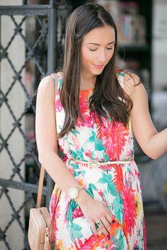 Eliza J maxi dress in floral print