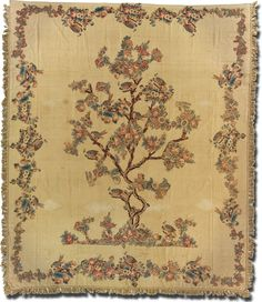 Tree of Life, Maker unknown, Possibly made in United States, C. 17880-1800. From the exhibition, Chintz Applique Quilts: From Imitation to Icon