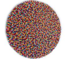 Felt ball rug in 14 colors without white by feltnyarn on Etsy, $160.00