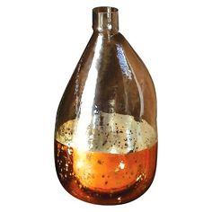 """Round Glass Balloon Vase - Antique Copper (7"""") : Target"""