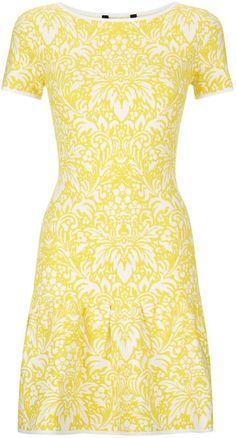 Bcbgmaxazria Yellow Bambi Dress