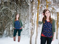 pretty winter portraits