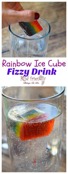 Rainbow Fizzy Drinks a fun idea for St. Patrick's Day or just summer fun treats for kids! http://www.kidfriendlythingstodo.com