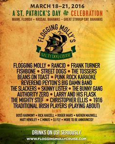 #FloggingMollyCruise2016 is now available to book. Come see us and our friends @Rancid, @frankturner and more.