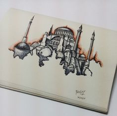Hagia Sophia Istanbul – Suveyda Elliiki – Join the world of pin Architecture Drawing Art, Watercolor Architecture, Art Sketches, Art Drawings, Hagia Sophia Istanbul, Watercolor Paintings Nature, Islamic Paintings, Small Canvas Art, Arabic Calligraphy Art