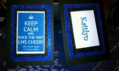 Cheer gift bag tags, front and back.
