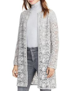 An ultra-feminine layer over pulled-together separates, this exquisite lace jacket from Lauren Ralph Lauren is tailored in a minimalist silhouette and finished with sumptuous suede trim. | Polyester/n                                                                                                                                                                                 More