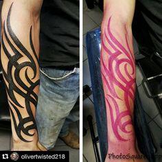 Super clean, custom tribal by Craig #tattoo #tattoos #tat #ink #inked #tattooed #tattoist #coverup #art #design #instaart #instagood #sleevetattoo #handtattoo #chesttattoo #photooftheday #tatted #instatattoo #bodyart #tatts #tats #amazingink #tattedup #inkedup #blackandgray #tribal #custom