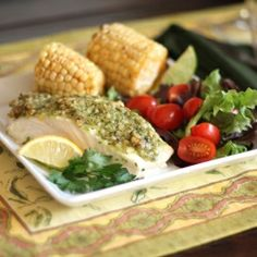 Pesto, Baked fish and Crusts on Pinterest