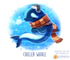 Daily Paint 1507. Chiller Whale by Cryptid-Creations.deviantart.com on @DeviantArt