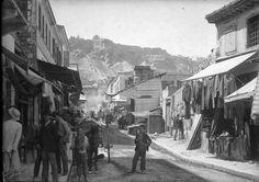 Οδός Αιόλου 1892 Bauhaus, Old Time Photos, Old Greek, Athens Greece, The Neighbourhood, The Past, Street View, Landscape, History