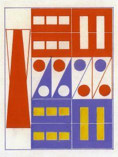 Design of box, Build the Town building block set, ca. 1943