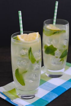 Honey Mint Lemonade - A simple homemade lemonade that pairs beautiful with savory foods, or is great enjoyed on it's own!