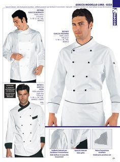 Chaqueta cocina señora y caballero Chef isacco 2016 Chef Coats, Hotel Uniform, Work Attire, Office Outfits, European Fashion, Workwear, Chefs, Obama, Scrubs