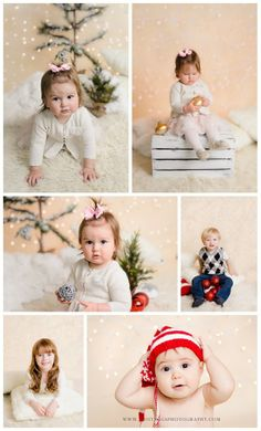 christmas mini session set inspiration for baby and toddler