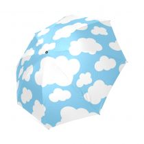 InterestPrint Custom Blue Magical Unicorn Anti Sun UV Foldable Travel Compact Umbrella