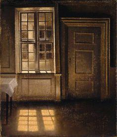 Interior, Sunlight on the Floor' (1906), Vilhelm Hammershoi