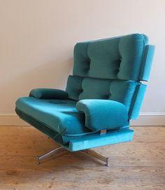 Howard Keith; Chromed Metal Lounge Chair, c1970.