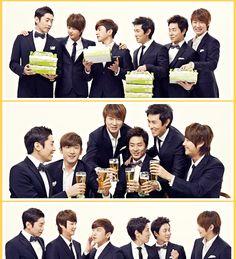 Shinhwa in suits <3