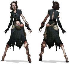 "A ""Lady Smith"" model splicer from Bioshock 2"